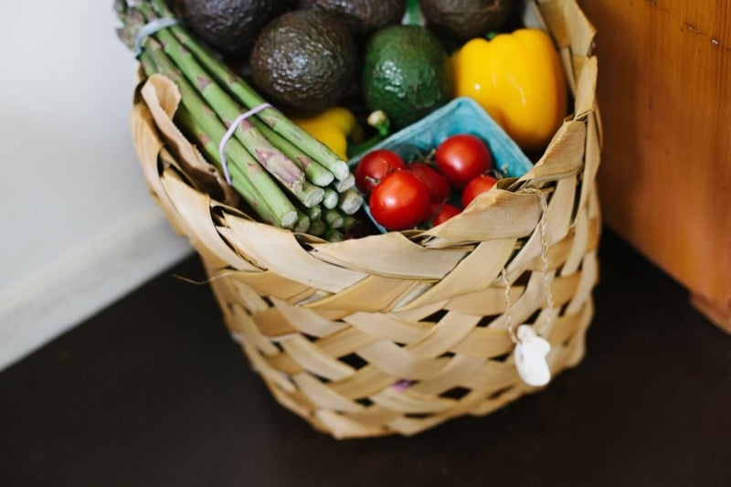 Basket With Vegetables Tomatoes