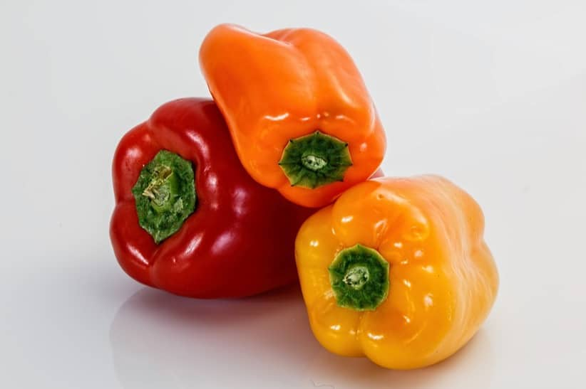 sweet colorful peppers