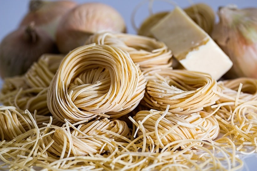 freshly made pasta noodles
